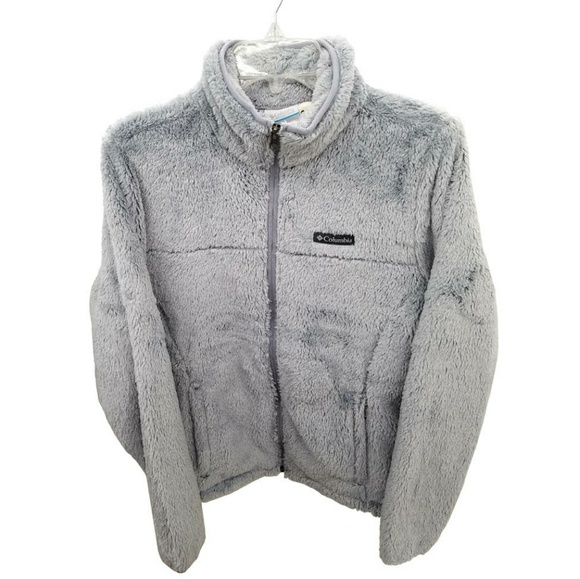 Columbia Jackets & Blazers - Columbia Cloudy Day Gray Fleece Zip Jacket